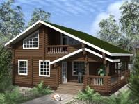 Проект дома с верандой и балконом
