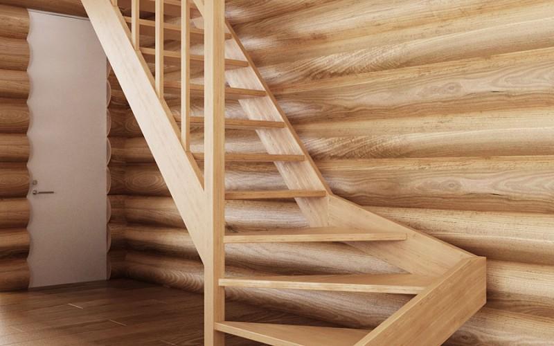 Поворотная лестница «Лидер» с поручнем (другой ракурс)